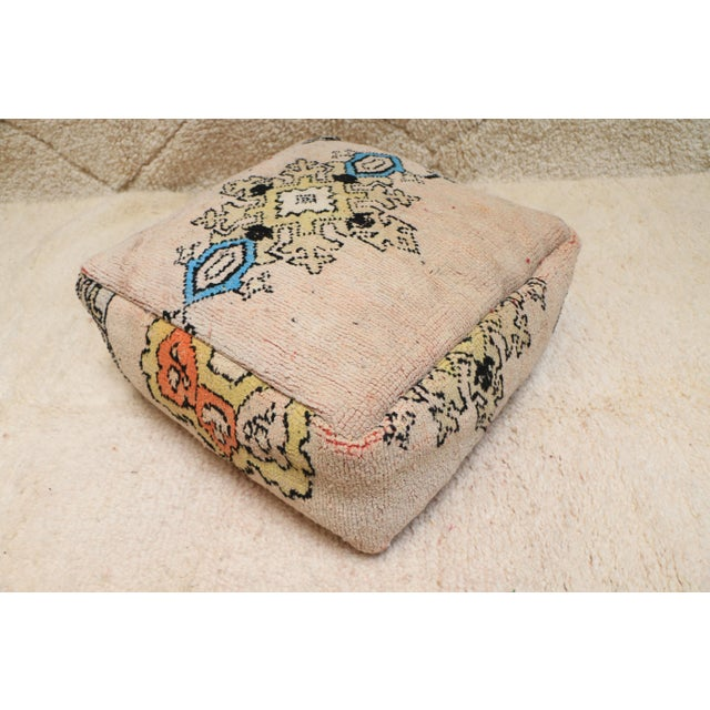 Moroccan Rug Pillow Pouf Cover (Unstuffed) For Sale - Image 10 of 10