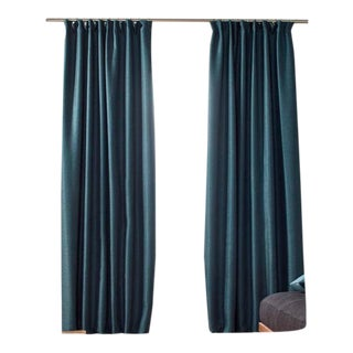 """Coconut"" Curtains, Teal, 57.1in X 110.2in (2 Panels) by Madura For Sale"