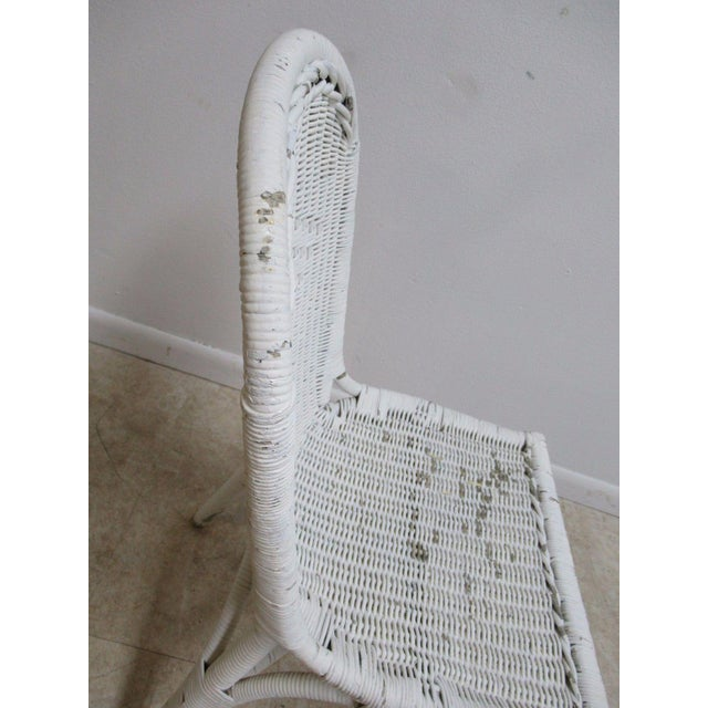 Antique Wicker Outdoor Patio Chair For Sale - Image 11 of 11