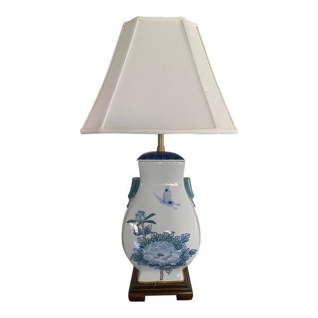 Asian Ceramic Table Lamp For Sale