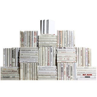 Modern Snowfall Book Wall : Ste of One Hundred Decorative Books For Sale