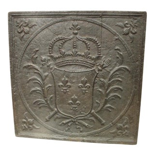 Large 18th Century Coat of Arms Fireback from France For Sale