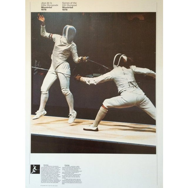 American 1976 Montreal Olympic Poster, Double-Sided, Fencing\Shooting - Cojo For Sale - Image 3 of 3
