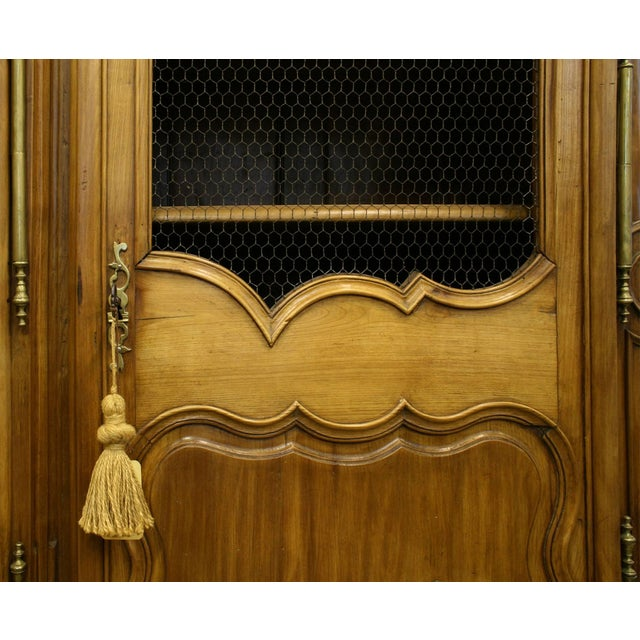 French French Provincial Walnut Armoire Cabinet For Sale - Image 3 of 5