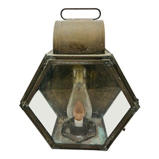 Antique Copper Lantern For Sale