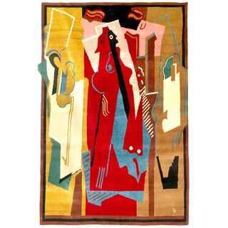 Boccara Limited Edition Artistic Handmade Wool Rug After Albert Gleizes - N.34 For Sale