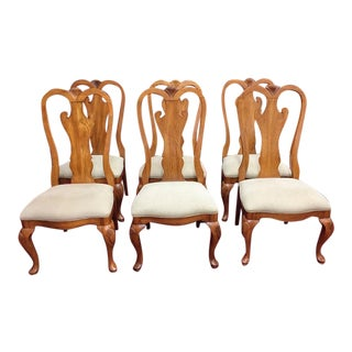 Pennsylvania House Oak Dining Chairs - Set of 6 For Sale