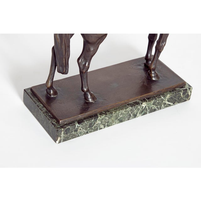 Early 20th Century Austrian Bronze Standing Horse by Ferdinand Lugerth For Sale - Image 10 of 13