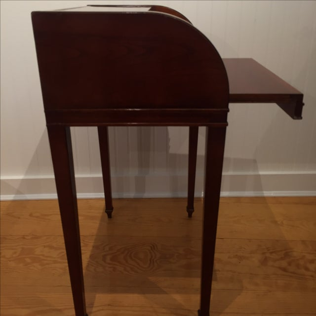 Cherry Roll Top Accent Table - Image 6 of 9