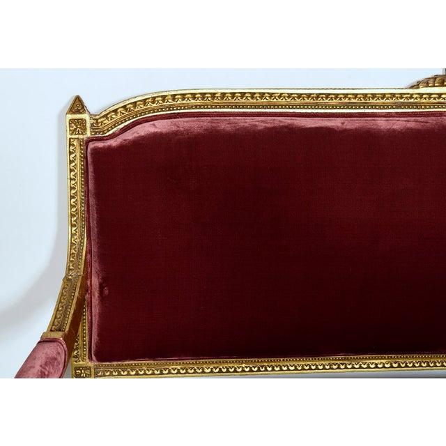 Vintage 1950s Louis XVI-Style Gilt Wood Sofa - Image 3 of 9