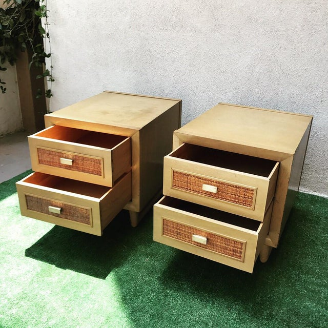Grand Rapids Mid-Century 2 Drawer Nightstands - A Pair - Image 6 of 7