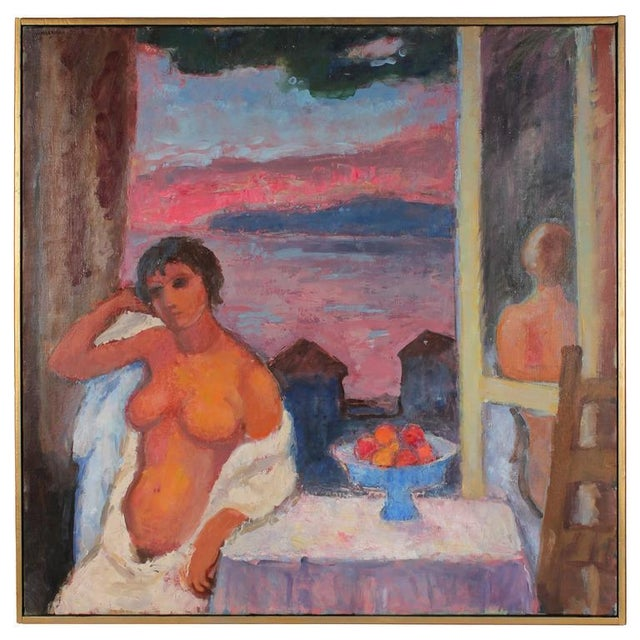 "Gerald Wasserman ""Cannery Row Nude"" Sunset Landscape - Image 3 of 3"