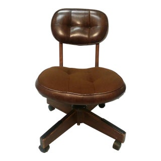 Vintage Mid-Century Modern Industrial Desk Chair For Sale