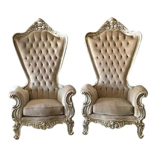 Modern Custom Baroque Chairs - A Pair For Sale