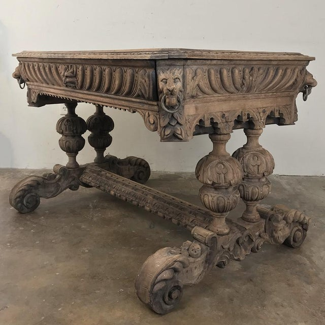 19th Century French Renaissance Writing Table For Sale - Image 10 of 13