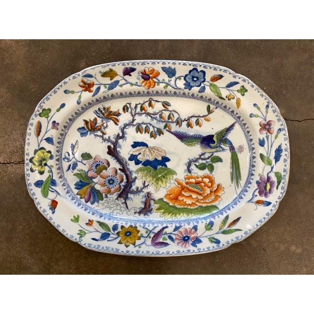 """Davenport Antique """"Flying Bird"""" Davenport Platter For Sale - Image 4 of 8"""