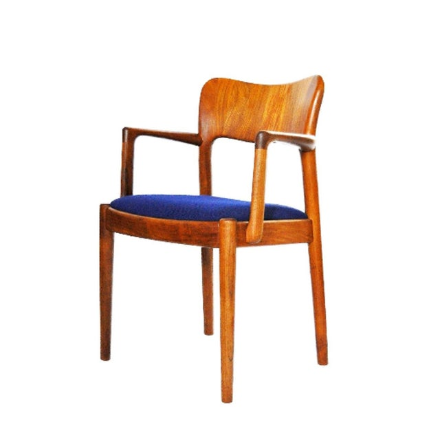 One 1960s Mid-Century Modern Koefoeds Hornslet Teak Arm Chair For Sale - Image 10 of 10