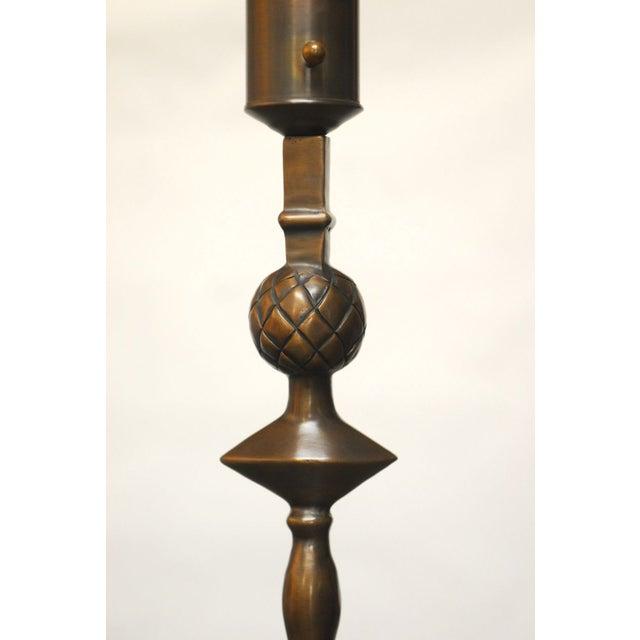 Alberto Giacometti Giacometti Style Solid Bronze Pomme De Pin Lamp For Sale - Image 4 of 7