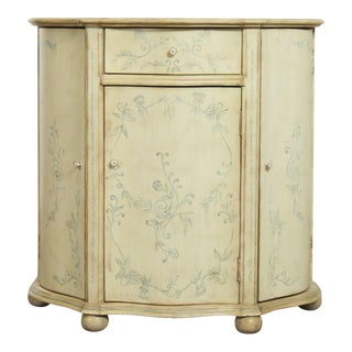 Venetian Style Hand Painted Demilune Console