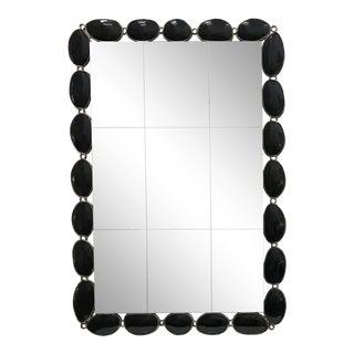 1980s Mid-Century Modern Harrison Gil Black Wall Mirror