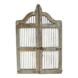 Mid 20th Century Old Wood & Iron Garden Gate For Sale