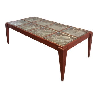 1940's Glass Block & Lacquered Wood Coffee Table