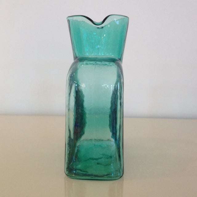 Blenko 1960's Sea-Green Blenko Pitcher For Sale - Image 4 of 4