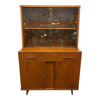 Mid Century Modern Craddock China Cabinet Hutch For Sale