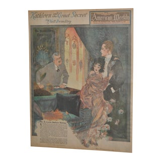 Art Deco San Francisco American Weekly Full Color Print by Nell Brinkley c.1920