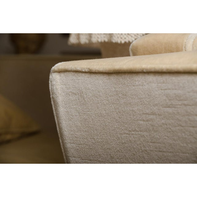 Contemporary Brueton Oversized Lounge Chair Upholstered in Mohair For Sale - Image 3 of 9