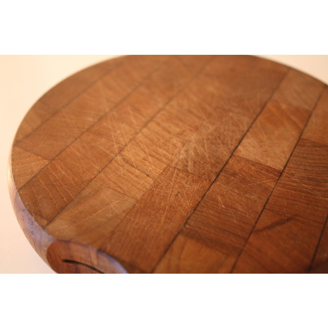 Wood Mid-Century Dansk Cheese Board & Knife For Sale - Image 7 of 7