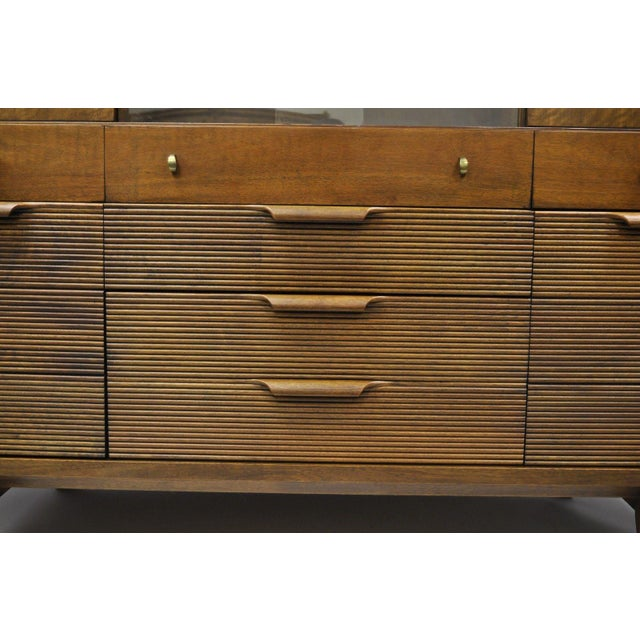Century Furniture Mid-Century Modern Walnut China Cabinet For Sale - Image 11 of 12