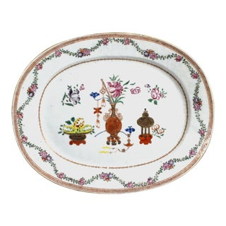 18th-Century Chinese Export Oval Porcelain Dish For Sale