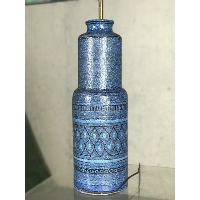 Bitossi Monumental 1960's Italian Ceramic Table Lamp by Bitossi for Raymor For Sale - Image 4 of 12