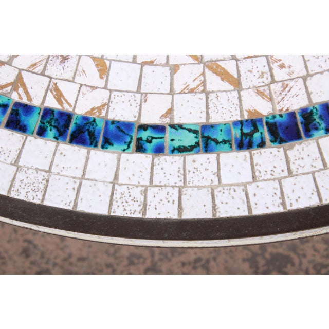 Italian Mid-Century Modern Mosaic Tile and Brass Cocktail Table, 1950s For Sale In South Bend - Image 6 of 10