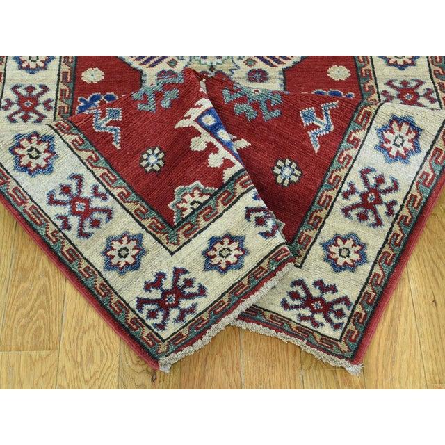 Wool Handmade Tribal Design Kazak Runner- 2′8″ × 9′9″ For Sale In New York - Image 6 of 12