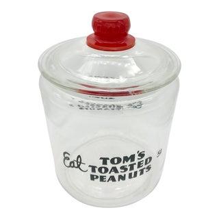 Vintage Peanut Advertisement Glass Jar & Lid