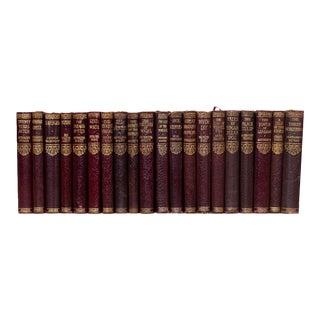Burnished Burgundy Mini Book Set (S/20) For Sale