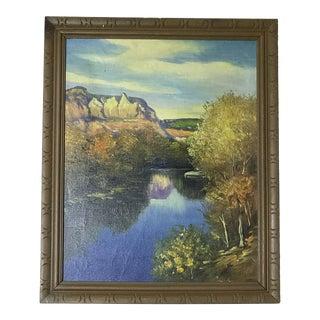 Traditional F. Manalili Oil Autumn Landscape For Sale