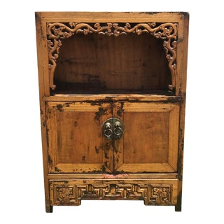 19th Century Small Chinese Chest With Dragon Scroll