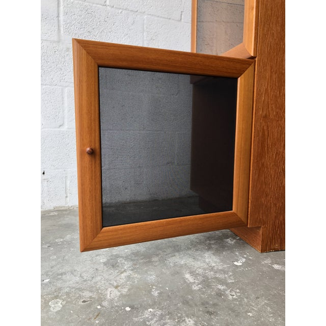 Vintage Mid Century Modern Danish Style Curio Display Cabinet. For Sale - Image 12 of 13