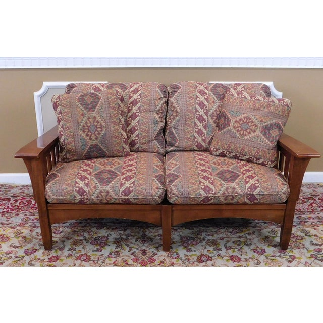 Super Ethan Allen Woodstock Cherry Mission Loveseat Uwap Interior Chair Design Uwaporg