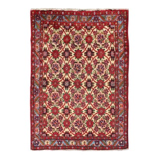 Vintage Mid-Century Persian Malayer Rug - 3′5″ × 5′ For Sale