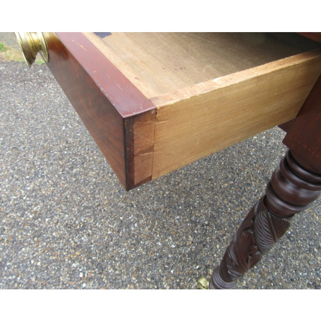 Antique Federal Dropleaf Solid Mahogany Table For Sale - Image 12 of 13