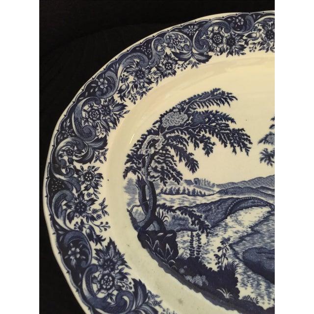 Chinoiserie Blue & White Serving Platter - Image 4 of 5