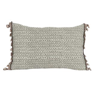 Fortuny Pillow With Zigzag Design For Sale