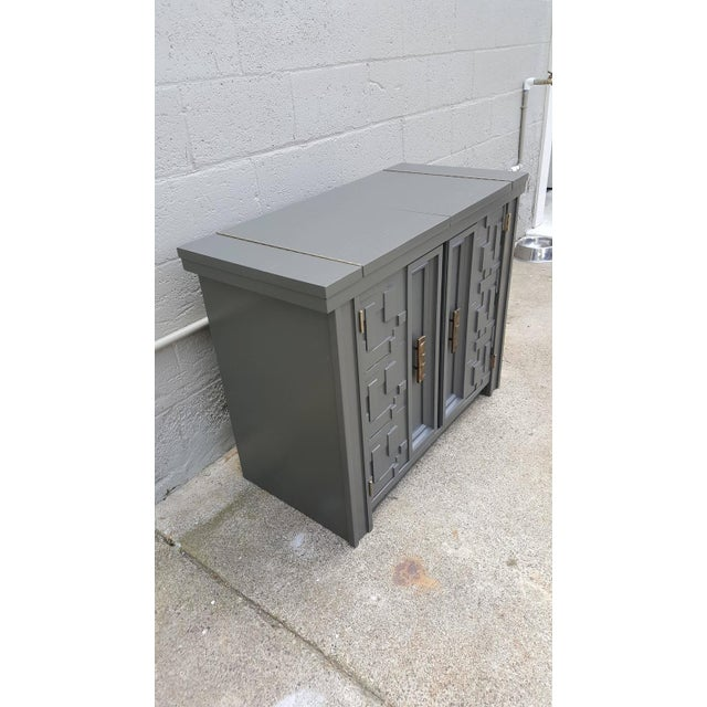 Brutalist Flip-Top Bar Cabinet For Sale - Image 5 of 9