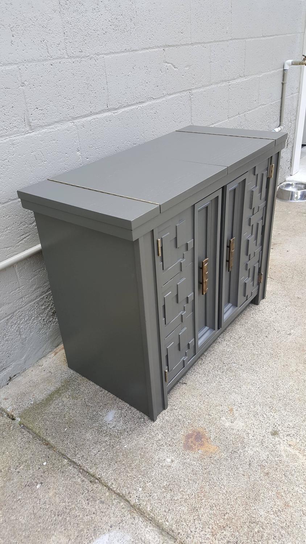 Brutalist Flip Top Bar Cabinet   Image 5 Of 9