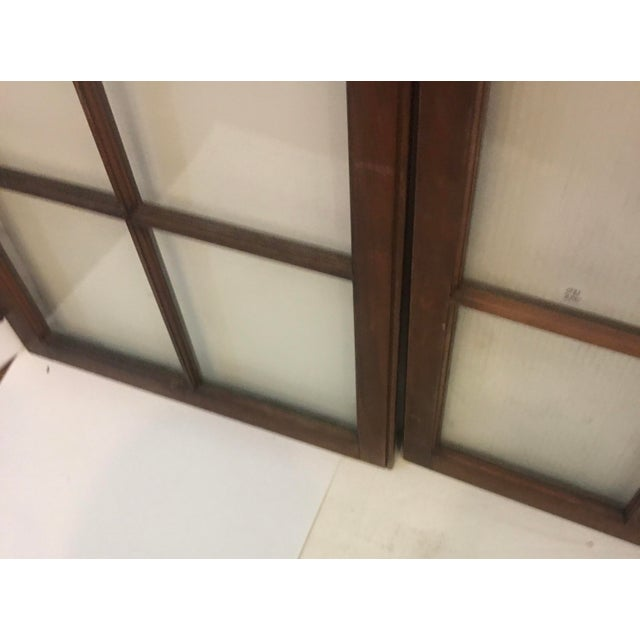 Late 19th Century 19th Century Philadelphia 2 Panel Walnut Wood Window For Sale - Image 5 of 7