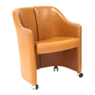 "Eugenio Gerli for Tecno ""Series 142"" Leather Chair For Sale"